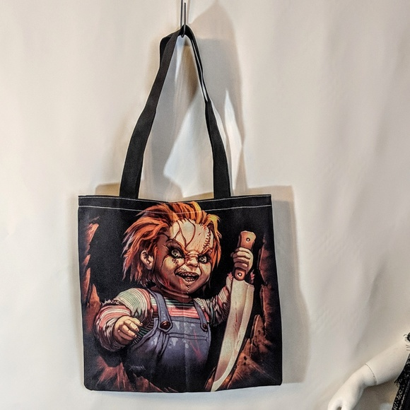 Handbags - Chucky Horror Shopping Tote Market Bag Gothic